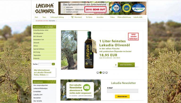 Lakudia Olivenöl Webshop